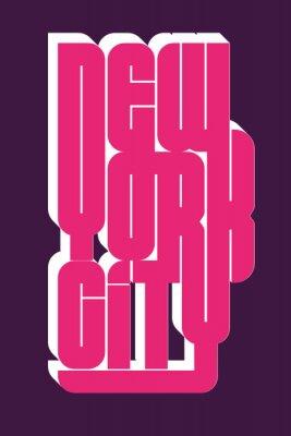 Naklejka Nowy Jork Sport noszenia typografii godło, t-shirt grafika znaczek