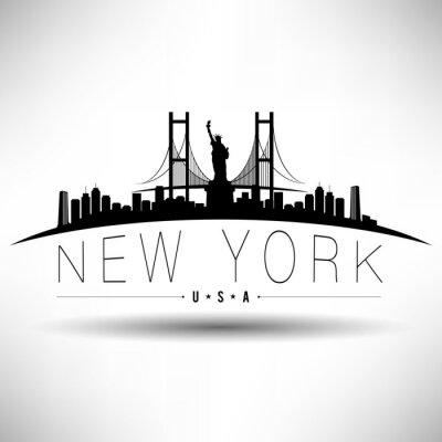 Naklejka Nowy Jork Typografii