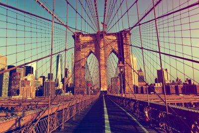 Naklejka Nowy Jork z Brooklyn Bridge