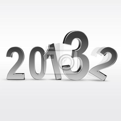 Nowy rok 2013 biały