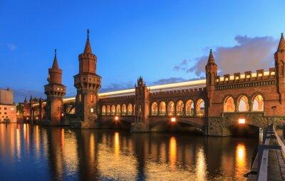 Naklejka Oberbaumbrücke, Berlin, Niemcy