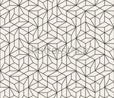 Naklejka Objęty wzorem wzoru. Nowoczesny stylowy streszczenie tekstura. Powtarzanie płytek geometrycznych z elementami w paski