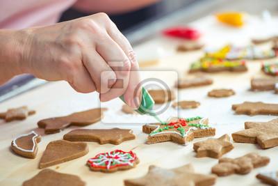 Oblodzenie ciasteczka świąteczne