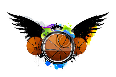 Obraz graffiti koszykówki
