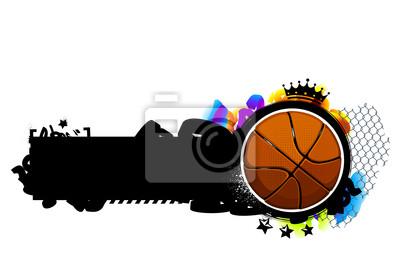 Obraz Graffiti z koszykówki