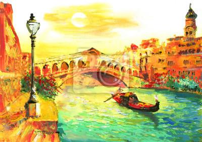 Obraz olejny - Wenecja, Włochy