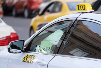 Naklejka Obraz taksówki