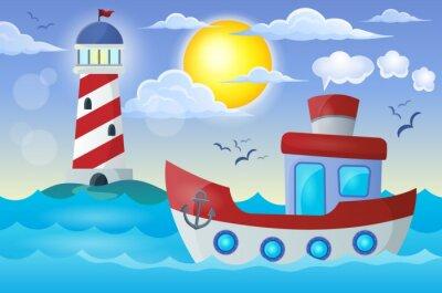 Naklejka Obraz temat 2 łódź