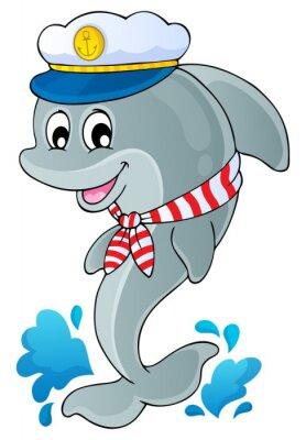Naklejka Obraz z motywem 1 delfinów