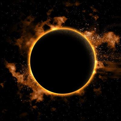 Naklejka Obszar tła z planety przyćmione