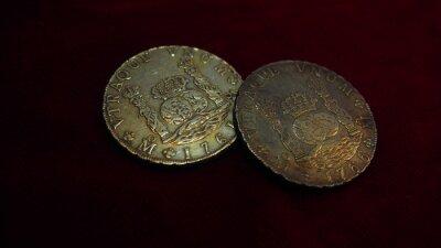 Naklejka ocho reales columnarios de plata