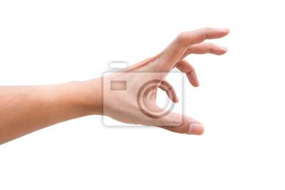 Naklejka Odosobniona ręka dosięga out