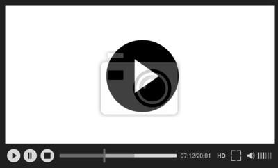 Naklejka Odtwarzacz internetowych na białym tle