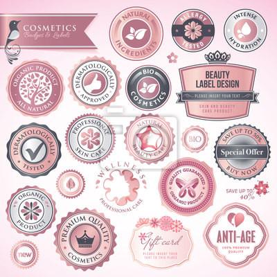 Odznaki i etykiety kosmetyków