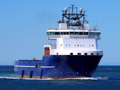 Naklejka Offshore Supply Ship M, Vessel Offshore Supply trwają na morzu obiektu offshore.