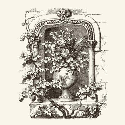 Naklejka Okno gotyckie