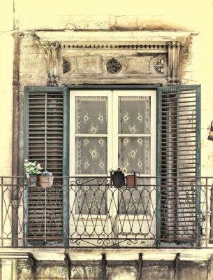 Naklejka Okno w Palermo