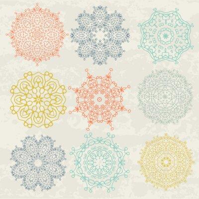 Naklejka okrągłe wzory