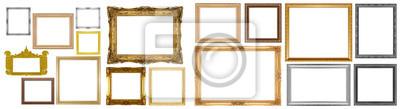 Naklejka Old gold frame