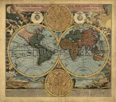 Naklejka Old map