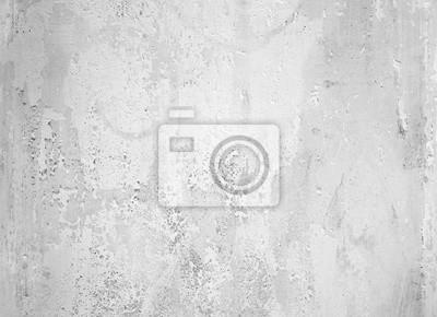 Naklejka Old peeling white paint on concrete wall, texture background