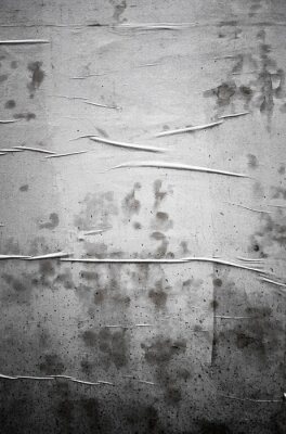 Old Rough Dirty Wrinkled Grunge Glued Poster Wall Paper Sheet Street Texture.