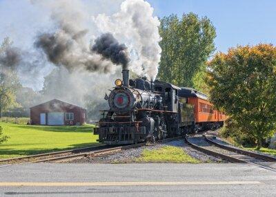 Naklejka  Old Vintage Steam Engine