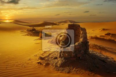 Naklejka old water well in the sahara desert