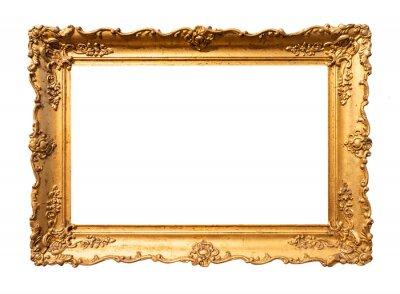 Naklejka old wide ornamental baroque picture frame