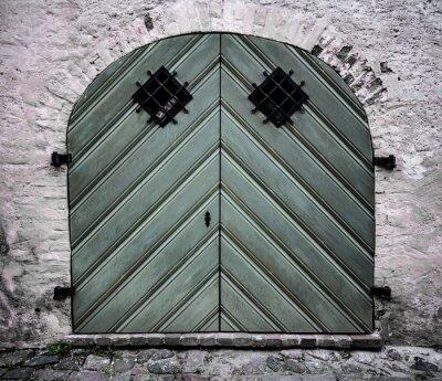 Old wood door, Riga, Latvia old town
