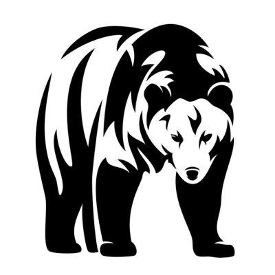 Naklejka opatrzone czarno-biały schemat