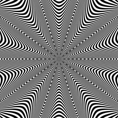 Naklejka Opt sztuki ilustracji dla twojego projektu. Złudzenie optyczne. Streszczenie tle.