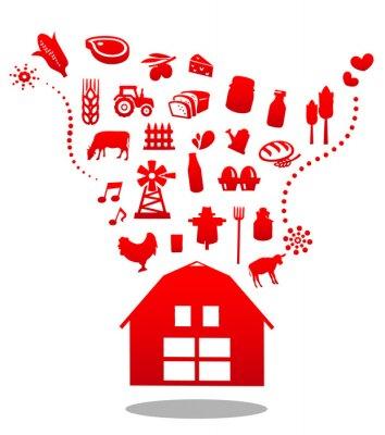 organiczne stodoła Ilustracja wektorowa