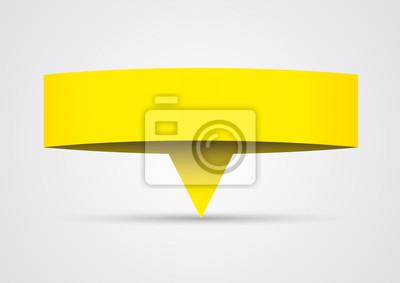 Origami - bannière papier jaune