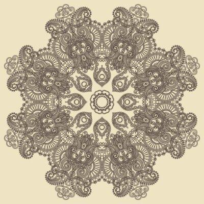Ornament koło, ozdobne koronki okrągły