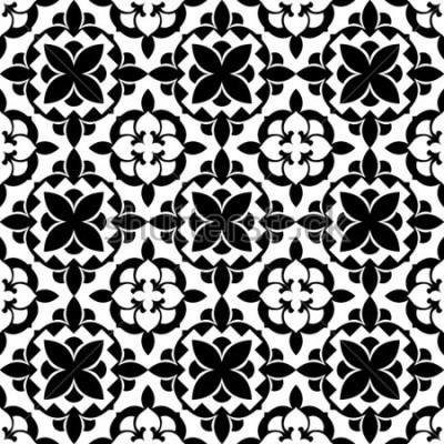 Naklejka ornamentalny wzór kwiatowy