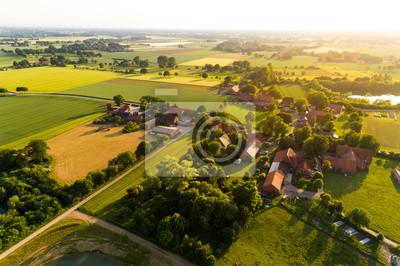 Naklejka Ortschaft w Deutschland aus der Luft