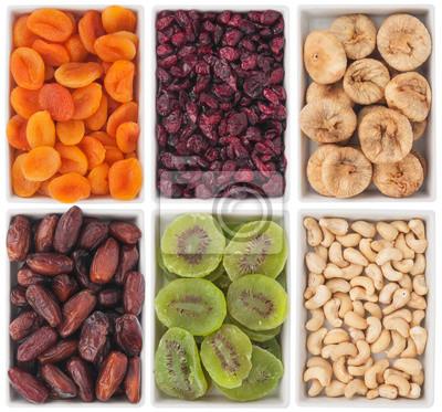 Orzechy i suszone owoce w płytki ceramiczne