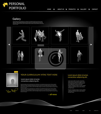 osobista szablon strony portfolio ludzi biznesu