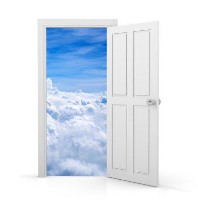 Naklejka otwarte drzwi