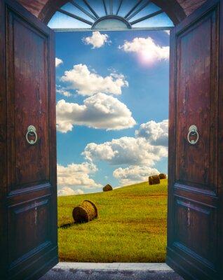 Naklejka Otwórz drzwi i krajobrazu
