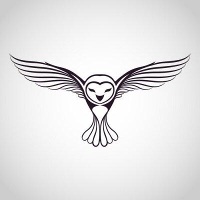 Naklejka owl logo