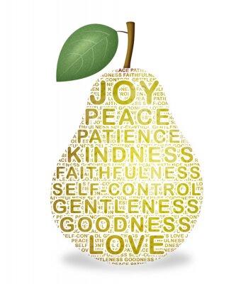 Naklejka Owoce Ducha