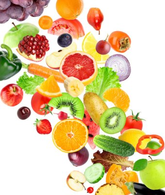 Naklejka Owoce i warzywa