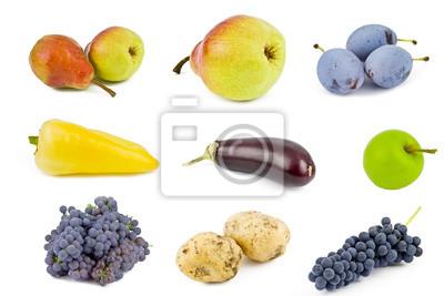 owoce i warzywa wyizolowanych