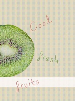 Naklejka Owoce motywu tła