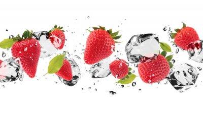 Naklejka Owoce na białym tle Ice