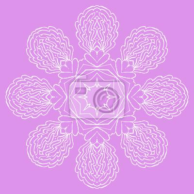 Ozdobne okrągłe elementem wzoru. Okrąg tła z wieloma szczegółami, wygląda jak ręcznie robione koronki. Orient tradycyjne ozdoby. Motyw orientalny
