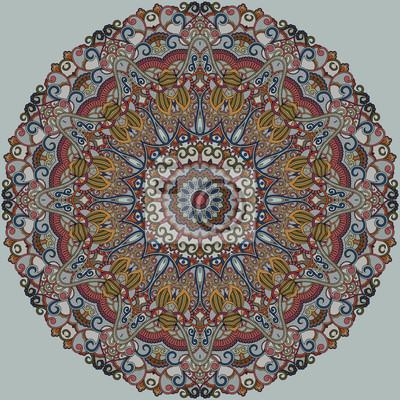 Ozdobny wzór runda. Wielokolorowe mandala