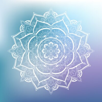 Naklejka Ozdobnych okrąg. Mandala
